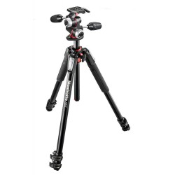 Kit Trípode Manfrotto 055 3 Secciones Rótula 3-way Aluminio